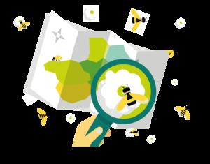 Logo transparent Mission pollinisateurs, l'escape game des pollinisateurs sauvages